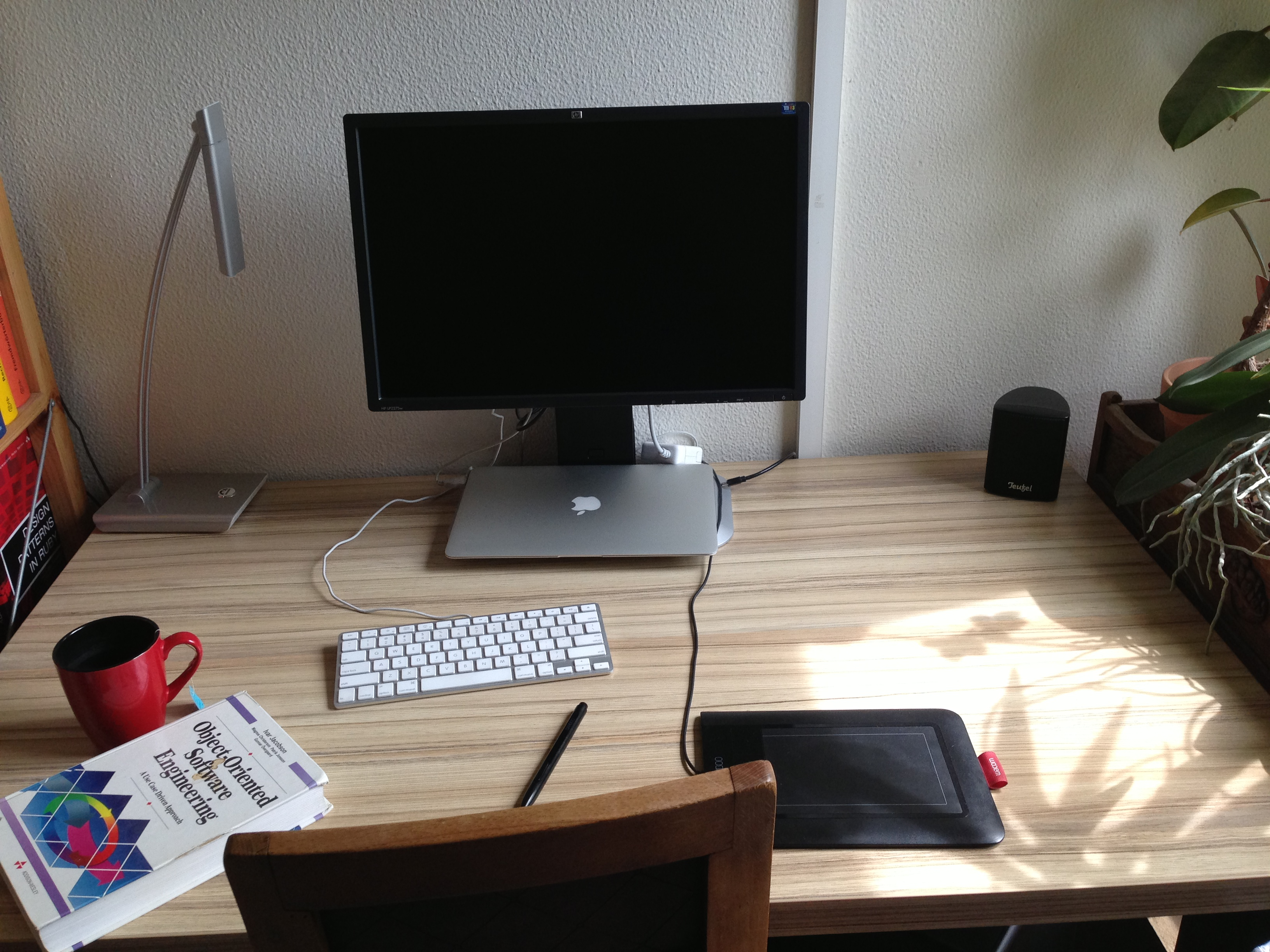 Desk at morning