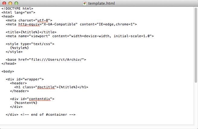 TextEdit HTML code