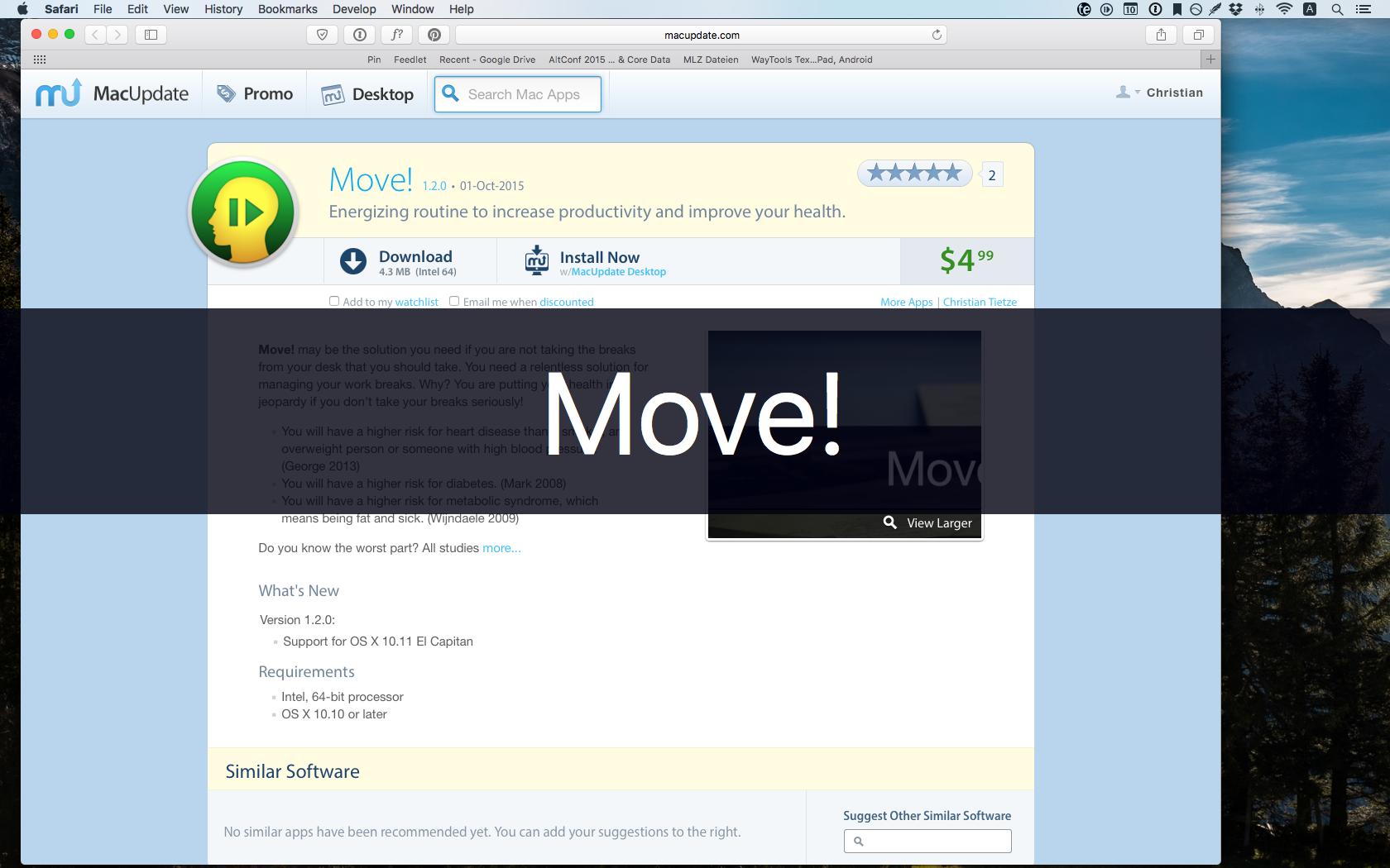 Screenshot of Moive!