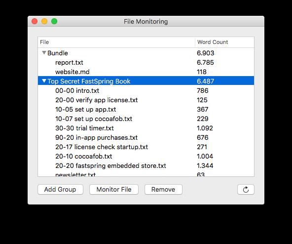 screenshot of the monitoring view