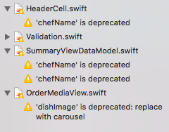 Xcode warnings