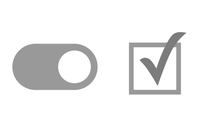 switch and checkbox